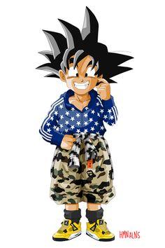 Son Goku en Air Jordan 4 Thunder