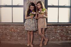 Flower story for Poster Style Child. Mischka Aoki Spring 2014 dresses.