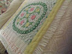 Chenille Quilt Vintage Cozy Snuggle up Cuddley by raisedoncotton2, $229.99
