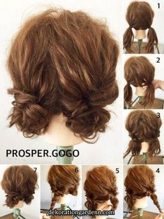 hair styles hairstyle how to bayalage to curl your hair hair hair hair Work Hairstyles, Pretty Hairstyles, Wedding Hairstyles, Dreadlock Hairstyles, Hairstyle Ideas, Two Buns Hairstyle, Short Hair Hairstyles Easy, Braid Hairstyles, Hairstyles 2016