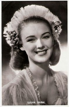 Lovely blonde Susan Shaw (1929 – 1978) was an English actress, who was groomed for stardom in Rank's charm school. She was a promising starlet, but after the tragic death of her husband Bonar Colleano, she would never be the same again and began to drink heavily. She died of cirrhosis of the liver