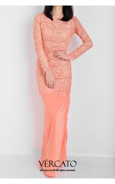 kurung moden lace - Google Search