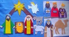 THE CHRISTMAS STORY FELT BOARD FLANNEL BOARD STORY SET