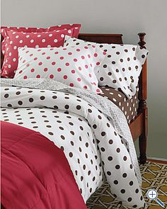 Shop for cotton percale sheets and percale bedding at Garnet Hill. Cotton percale sheets are cool, crisp and comfortable any time of the year. Comforter Cover, Duvet Covers, Polka Dot Bedding, Kids Sheets, Percale Sheets, Patterned Sheets, Big Girl Rooms, Kids Rooms, Crib Bedding