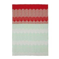 Ekko Throw Blanket Rasberry/Mint
