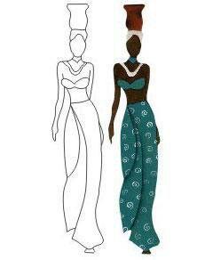 siluetas de africanas para imprimir - Buscar con Google