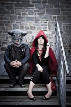 Red Riding Hood and the Wolf. Couple Costumes