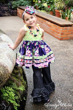 Viola's Cotton Ruffled Top & Sundress PDF Pattern   Sewing Pattern   YouCanMakeThis.com