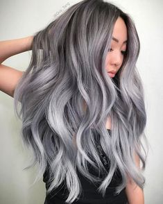 50 Ash Blonde Hair Color Ideas Ash blonde is a shade of blonde that's slightly gray tinted with cool undertones. Today's article is all about these pretty 50 Ash Blonde Hair Color. Ash Blonde Hair, Ombre Hair, Balayage Hair, Grey Hair Foils, Brunette Hair, Gray Balayage, Grey Blonde, Lilac Hair, Pastel Hair