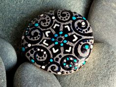 Snowfall at Twilight / Painted Stone / Sandi by LoveFromCapeCod, $22.00