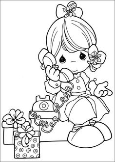 coloring page Precious moments Kids-n-Fun