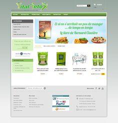 Création de la Boutique PrestaShop Detox : Vitaldetox.fr. Thème PrestaShop avec intégration de la charge graphique fournie par le client. Freelance Web