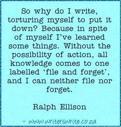 Quotable - Ralph Ellison - Writers Write Creative Blog