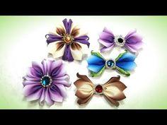 Бантики цветы из репсовой ленты - YouTube Ribbon, Make It Yourself, Handmade, Paper Bags, Youtube, Christmas, Head Bands, Craft Items, Hair Rods
