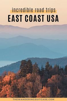 10 Incredible East Coast USA Road Trips. Can't miss road trips USA. Road trips from Boston, NYC, Miami, Florida. Weekend getaways USA east coast. East Coast Usa, East Coast Road Trip, Road Trip Usa, West Coast, Bag Essentials, Road Trip Essentials, Road Trip Hacks, Family Vacation Destinations, Family Vacations