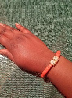The AfroFusion Spot  bracelet, orange, cute, jewelry, mk, michael kors, bling