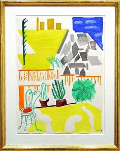 David Hockney, Untitled (Backyard Echo Park III)