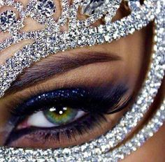 "blackbarbiesworld: ""💎 Miss Black Barbie's World 💎 "" Huda Kattan, Masquerade Wedding, Masquerade Ball, Arabic Makeup, Smoky Eye, Eye Make Up, Beautiful Eyes, Huda Beauty, Best Makeup Products"