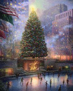 Christmas in New York   The Thomas Kinkade Company