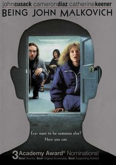 Being John Malkovich (1999) When puppeteer Craig Schwartz discovers a portal into John Malkovich's brain, he decides to sell 15-minute excursions into the esteemed actor's mind. But soon, Craig's wife becomes obsessed with the experience.