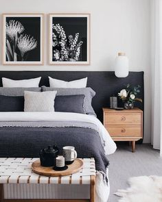 Stylish furniture and decor ideas of mid-century bedroom. #midcentury #modern #bedroom #furniture #decor #inspiration Transitional Home Decor, Transitional Living Rooms, Cheap Office Decor, Cheap Home Decor, Bedroom Decor For Small Rooms, Bedroom Ideas, Bedroom Designs, Bedroom Inspiration, Garden Inspiration