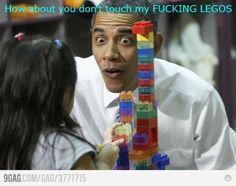 Obama Obama Obama... Loves his Legos