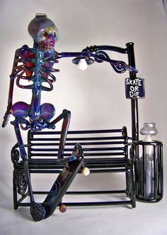 Skate Or Die rig; I'm still confused as to how you smoke out of this. I don't know if I'd WANT to.. A truly beautiful piece of glass~