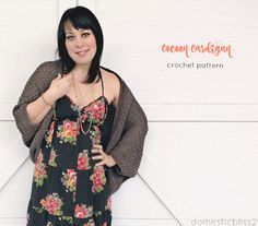 The cozy cocoon cardigan: FREE beginner crochet pattern (one size fits all!)