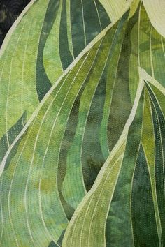 Oooh!  Looks like hosta leaves!  (quilt | Elaine Quehl)
