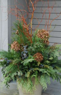 Beautiful winter arrangements from Griffin's Greenhouses