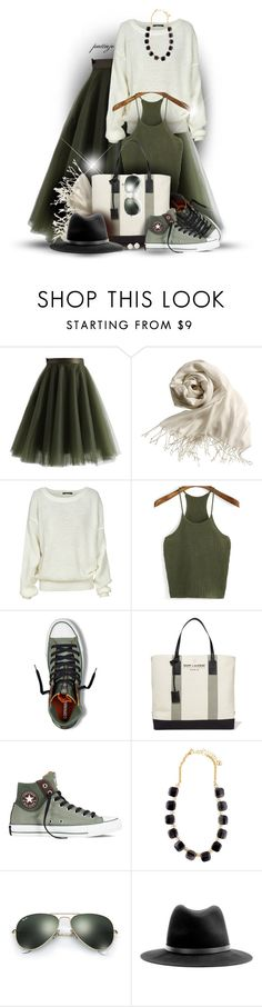 """Happy Birthday Polyvore!"" by rockreborn ❤ liked on Polyvore featuring Chicwish, H&M, WithChic, Yves Saint Laurent, Converse, Kate Spade, Ray-Ban and rag & bone"