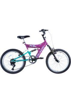 5d6ce6bf7 Bicicleta Aro 20 Feminina Suspensão Dupla Rosa Track Bikes