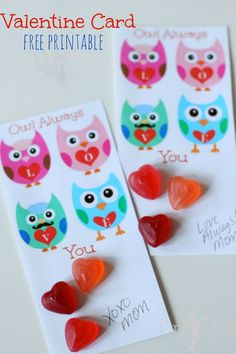 Owl Always Love You Sweet Free Printable Valentine Card handout! I LOVE owls...Super CUTE!