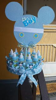 Diaper Centerpiece, Candy Centerpieces, Baby Shower Centerpieces, Baby Shower Decorations, Baby Shower Diapers, Baby Shower Games, Baby Boy Shower, Fiesta Mickey Mouse, Mesas Para Baby Shower