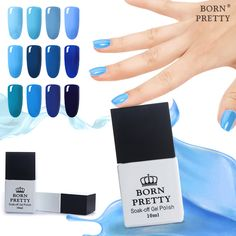 12Pcs BORN PRETTY Blue Red Nail Gel Polish Soak Off Gray Pink Purple Fast Dry Long-lasting UV Lamp Gel Lacquer Manicure 10ml  #Affiliate