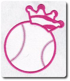 Applique Softball Crown Embroidery Design. $1.95, via Etsy.