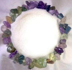 Fluorit Lavender Amethyst Heilstein Armband Bracelet