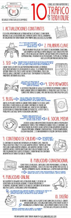 10 consejos para aumentar tráfico en tu tienda online #infografia #infographic #ecommerce
