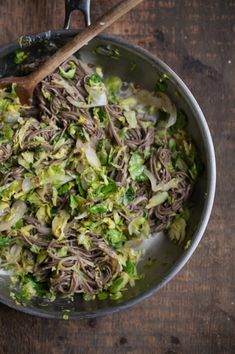 Vegan shaved Brussels sprouts and soba noodles | 31 New Noodle Dishes To Try