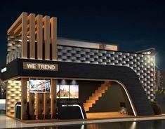 restaurant fachada Schlumberger 80 years event on Behance Restaurant Exterior Design, Modern Restaurant, Restaurant Facade, Kiosk Design, Design Hotel, Gate Design, Facade Design, Exhibition Stall Design, Exhibition Ideas