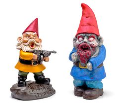 Zombie Apocalypse Garden Gnomes!!! I wonder if you can find these at Hobby Lobby?!?!?!!!