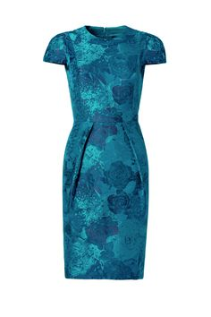 Teal Envelope Dress by Carmen Marc Valvo for $30 | Rent The Runway