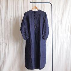jujudhau - 12 Button Long #linen chambray