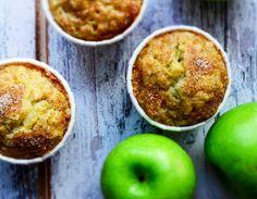 Εύκολη συνταγή για muffins μήλου Nom Nom, Muffins, Sugar, Apple, Fruit, Eat, Breakfast, Cakes, Recipes