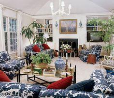 My Grandparents Living Room featured in Design Legend Mario Buatta's First Book! Classic.