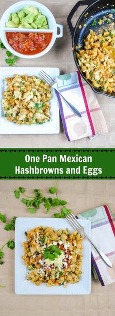 Turn a package of frozen Potatoes O'Brien into a quick and easy Mexican-inspired one skillet meal with eggs and fresh cilantro.