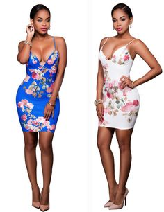 European and American sexy tape printing dress
