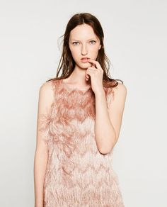 Image 2 of FRINGED DRESS from Zara