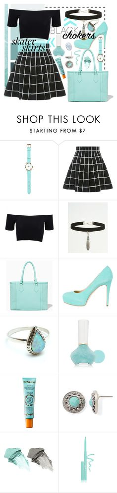 """""""touch of turqoise"""" by ninj-97 ❤ liked on Polyvore featuring American Apparel, ASOS, Brian Atwood, Child Of Wild, Paul & Joe Beaute, Rosebud Perfume Co., Monet, Bare Escentuals and Stila"""