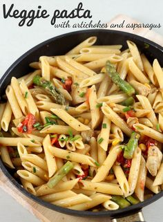 Veggie pasta with artichokes and asparagus - Amuse Your Bouche